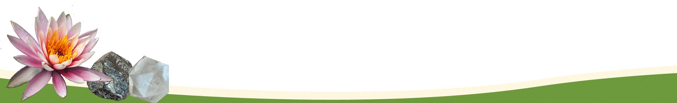 image pied de page contenant lotus, tourmaline et cristal de roche